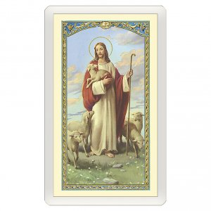 Holy cards: Holy card, Jesus Good Shepherd, Today I said a prayer for you ITA, 10x5 cm