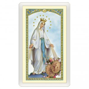 Holy cards: Holy card, Mary Queen, Salve Regina ITA 10x5 cm