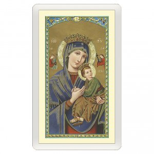 Holy cards: Holy card, Our Lady of Perpetual Help with prayer ITA 10x5 cm