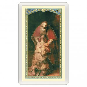 Holy cards: Holy card, Prodigal Son, We Sing o Lord to Your Love ITA 10x5 cm