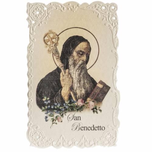 Holy card, Saint Benedict with prayer s1