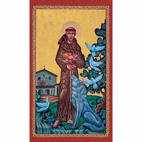 Holy card, St Francis and the wolf s1