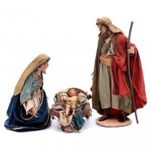 Angela Tripi Nativity scene: Holy Family in terracotta 18cm, Angela Tripi