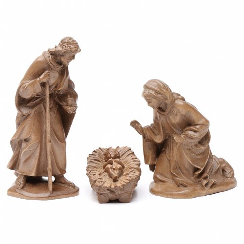 Holy Family, Orient model in patinated Valgardena wood s1