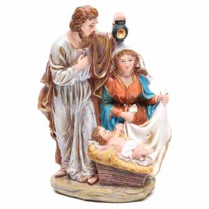 Nativity sets: Holy Family set with 3 characters in resin measuring 30cm