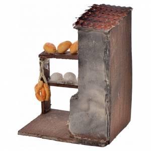 Neapolitanische Krippe: Holzofen mit Brot neapolitanische Krippe, 8,5x5x6cm
