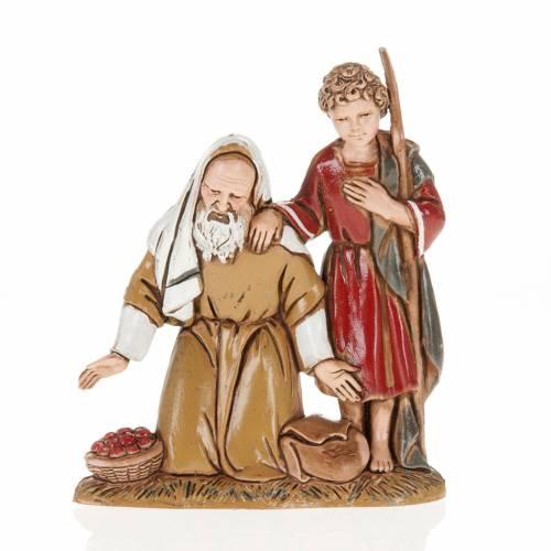 Homme âgé avec enfant crèche Moranduzzo 10cm s1