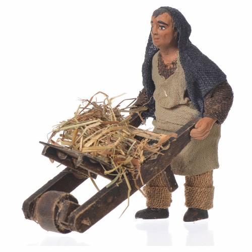Homme avec charrette 10 cm santon crèche napolitaine s1