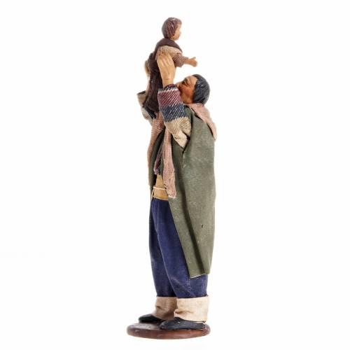 Homme avec enfant crèche napolitaine 14 cm s1