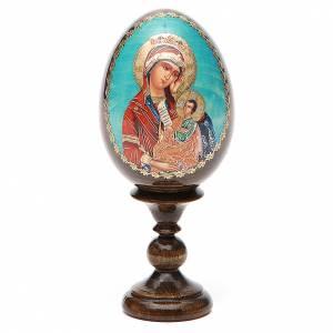 Huevos rusos pintados: Huevo ruso de madera découpage