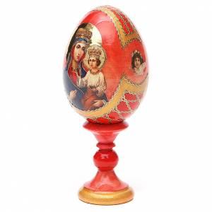 Huevos rusos pintados: Huevo ruso de madera découpage Ozeranskaya altura total 13 cm estilo Fabergé