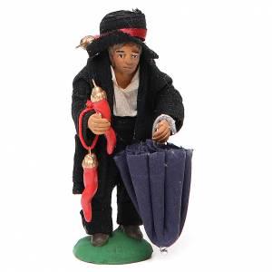 Hunchbacked man with good luck charms, Neapolitan nativity figurine 10cm s1