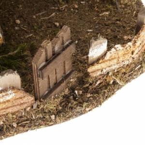 Krippe Hütten und Grotten: Hütte für Krippe Berghütte Stil 28x28x30cm