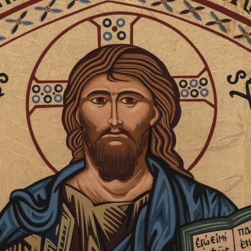 Icon Christ of Morreale, Greece, silkscreen printing 16x22cm s2