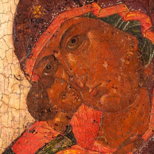 Icona antica Madre di Dio di Vladimir s6