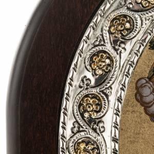 Icona Grecia Madonna con bimbo manto rosso argento 925 s3