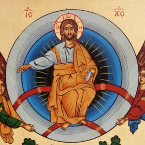 Icona Grecia serigrafata Ascensione del Signore s2