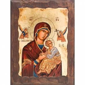 Icona Madre di Dio della passione manto rosso s1