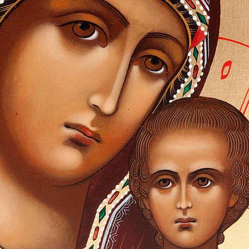 Icona Madre di Dio Petrovskaja Russia cm 22x27 s3