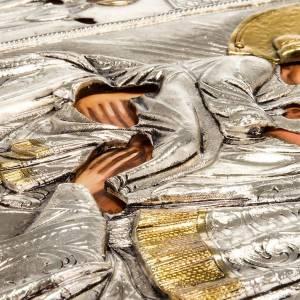 Icona Vergine di Poczajevsk argentata dorata s3
