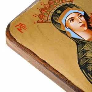Icona Romania Madonna della Passione bordo irregolare s3