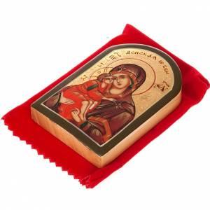 Icona russa Madonna del Don 6x9 cm s4