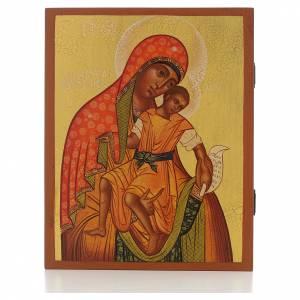 Icona russa Madonna di Kykkos 21x17 cm s1