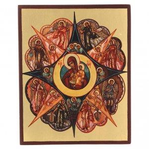 Icone Russia dipinte: Icona russa Roveto Ardente 14x10 cm