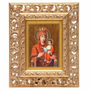 Icone Russia dipinte: Icona russa serigrafata cornice Autodisegnata