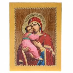 Icone Russia dipinte: Icona Russa Vladimirskaya 20x15 cm