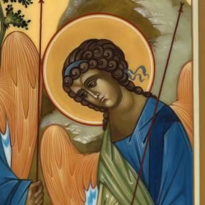 Icona Russia Santissima Trinità di Rublev 31x26 s4