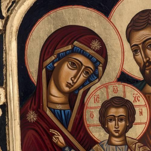 Icona Sacra Famiglia Grecia dipinta e serigrafata s3