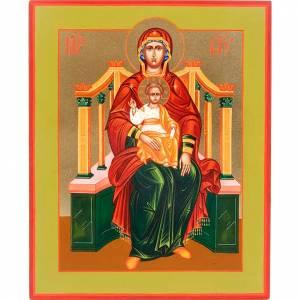 Icona Madonna su Trono: Basilissa (Regina) s1
