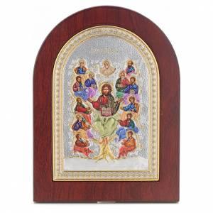 Icona serigrafata Albero della vita argento s1