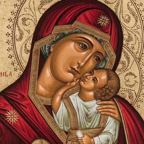 Icona serigrafata Madre di Dio della Tenerezza Grecia s2