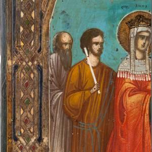 Icône ancienne, exaltation de la croix s2