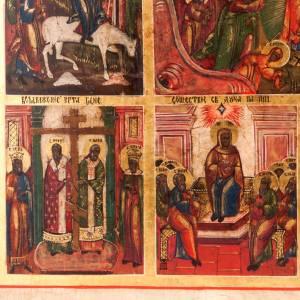 Icône ancienne les douze fêtes de l'anné s6