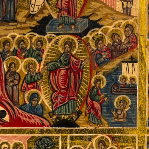Icône Russe 12 Grandes Fêtes peinte à la main s2