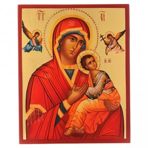 Icônes Russes peintes: Icône russe Notre-Dame du Perpétuel Secours