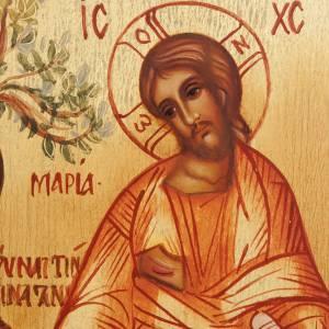 Icône Russe peinte Noli me tangere Jésus et Madelei s3