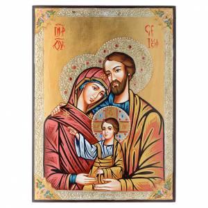 Icone Sainte Famille, décors et strass s1