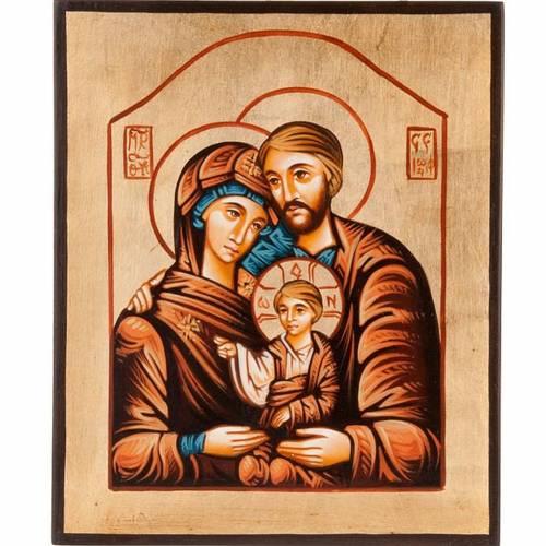 Icône Sainte Famille peinte à la main s1