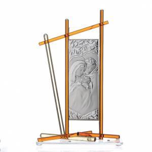 Bonbonnières: Icône Sainte Famille verre Murano ambre 24x15 cm