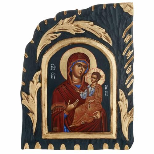 Icône Vierge Vreko Fratusa sérigraphiée et peinte Grèce s1
