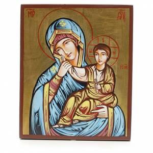 Handgemalte rumänische Ikonen: Ikone Gottesmutter Paramythia