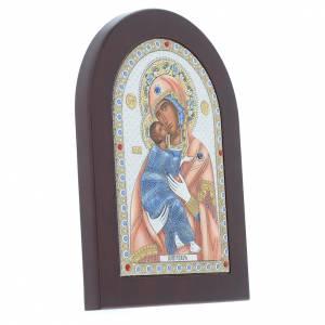 Ikonen aus Gold und Silber mit Riza: Ikone Madonna Vladimir Siebdruck Silber