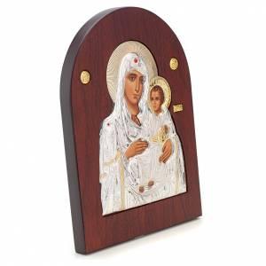 Ikonen aus Gold und Silber mit Riza: Ikone Maria Jerusalem Siebdruck Silber