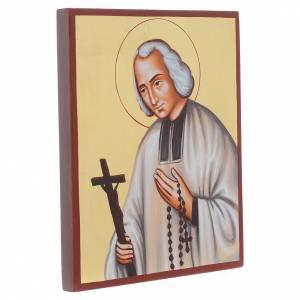 Handgemalte rumänische Ikonen: Ikone Pfarrer von Ars