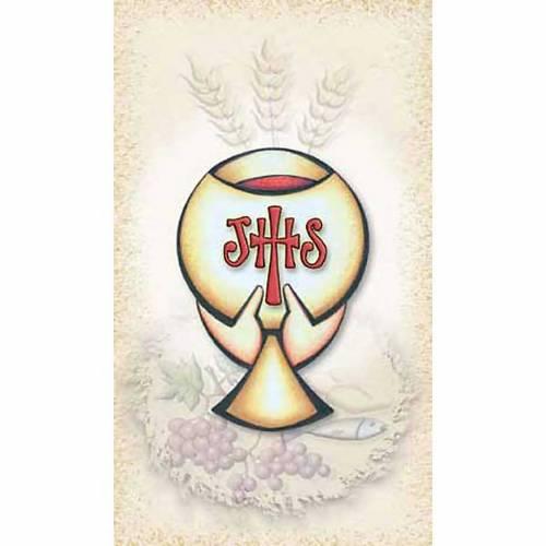 Image pieuse Première Communion calice IHS s1