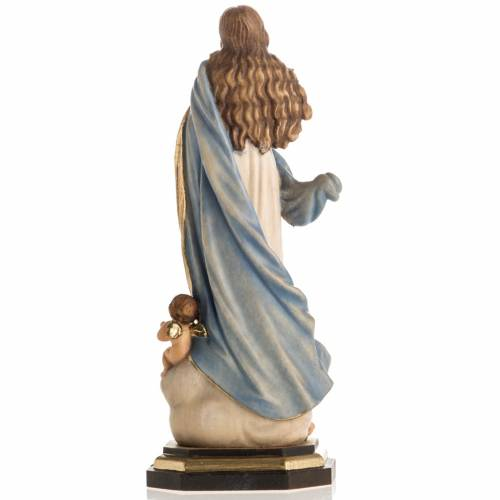 Immaculate Conception by Murillo wooden statue painted s5